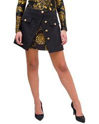 Versace Jeans Couture Gonna Dettaglio Con Stampa Regalia Baroque - Black