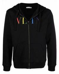 Valentino Men's Vv3mf11i73b20t Black Cotton Sweatshirt