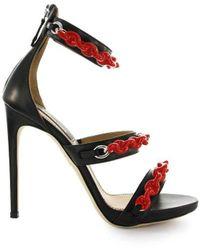 DSquared² Punk Rubber Chain Sandals - Black