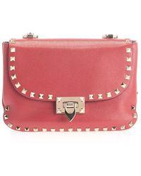 Valentino Garavani - Women's Sw0b0f12ghfjs5 Red Leather Shoulder Bag - Lyst