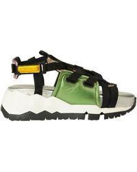 Pierre Hardy Metallic Effect Leathers Sport Sandals - Multicolour