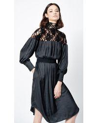 Smythe Belted Lace Dress Black