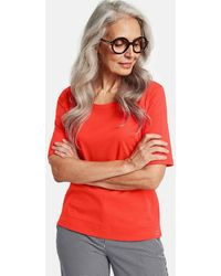 Gerry Weber - Red/orange T Shirt In Organic Cotton - Lyst