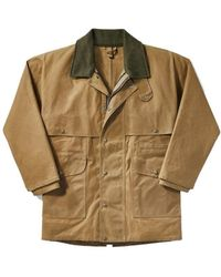 Filson Tin Packer Coat Dark Tan - Brown