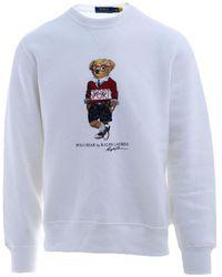 Ralph Lauren Men's 710800496002 White Cotton Sweatshirt