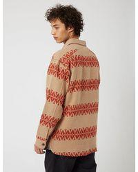 Pendleton Driftwood Shirt - Tan/red - Brown