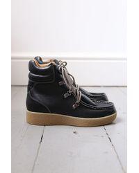 Étoile Isabel Marant Alpica Leather Hiking Boots - Black