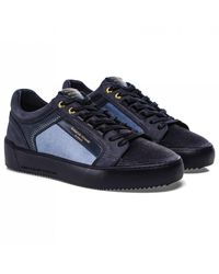 Android Homme Leather Velvet Venice Trainers - Blue