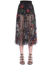 Amen Colour Polyamide Skirt - Multicolour