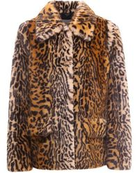 STAND Faux Fur Coat - Brown