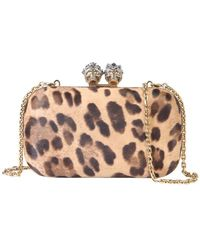 McQ Queen And King Skull Clutch - Multicolour