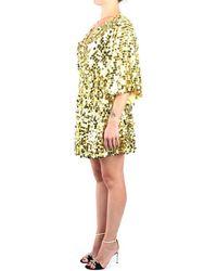Kocca Tatamis Short Dress With Sequins Macro - Yellow