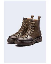Grenson Nanette Colorado Leather Boot Colour: Dark Brown