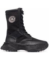 Vivienne Westwood Logo-patch Lace-up Ankle Boots - Black