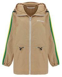 Palm Angels - Women's Pweb004s21fab0016101 Beige Polyester Outerwear Jacket - Lyst