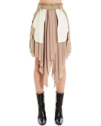 Unravel Project Uwcc051r20fab00260046004 Beige Skirt - Brown