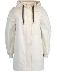 Brunello Cucinelli Women's Mf5279442cy919 White Polyester Trench Coat