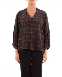 Attic And Barn Blouse With Long Fantasy Sleeves - Multicolour