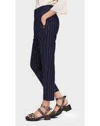 Maison Scotch Special Shiny Pinstripe Trouser - Blue