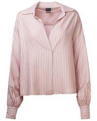Pinko Women's 1g14y77946nh6 Pink Viscose Blouse