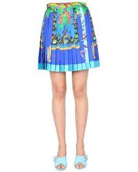 Versace Pleated Skirt - Blue