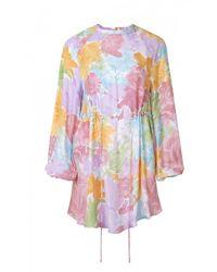 Stine Goya Outlet Coco Silk Rose Print Dress Colour: Pastel - Multicolour