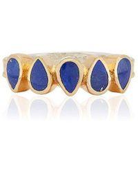 Anna Beck Lapis Multi-drop Ring - Blue