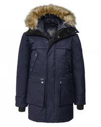 Nobis Faux Fur Trim Down Filled Yatesy Parka Colour: Navy - Blue