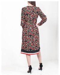 Dex Long Sleeve Floral Wrap Dress - Multicolour