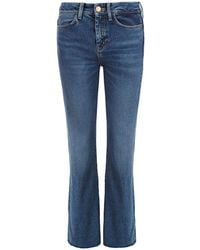 M.i.h Jeans M.i.h Jeans Lou Fray Cropped Flare Jean - Blue