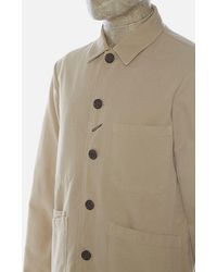 Universal Works Bakers Jacket In Sand - Natural