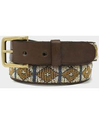 Aspiga Triangle Leather Belt | Light - Metallic