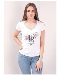 True Religion Bouquet Slim V Neck Tee Colour: White
