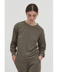 Ichi Kyla Ivy Knitted Top - Green