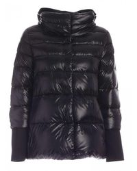 Herno Ultralight Nylon Hood + Sweatshirt Pi072dr12017 9300 - Black