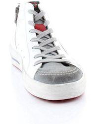 Ishikawa Leather Hi Top Trainers - White