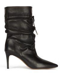 Pura López Parker Black Leather Boots