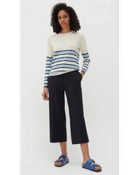 Chinti & Parker Cropped Pants Navy - Blue