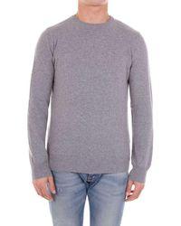 Andrea Fenzi Men's Bi501g01lightgrey Grey Wool Jumper