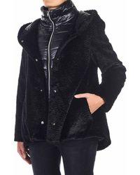 Herno Eco Fur Coat - Black