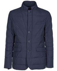Herno Men's Pi108ul111069201 Blue Polyester Outerwear Jacket