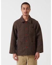 Le Laboureur Wool Work Jacket - Brown