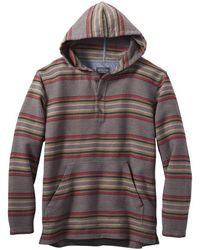 Pendleton Driftwood Hooded Flannel Sweat Mineral / Umber Stripe - Multicolour