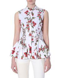 McQ Poppy Field Print Shirt - White