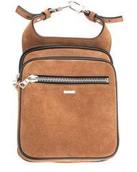 Amiri Men's W9a32225subrown Brown Suede Pouch