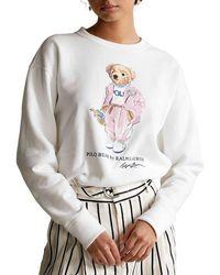 Ralph Lauren - Women's 211838099001 White Cotton Sweatshirt - Lyst