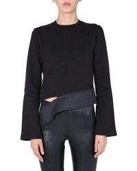 Rick Owens Drkshdw Asymmetric Sweatshirt - Black