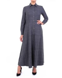 Purotatto Dress Long Dark Grey