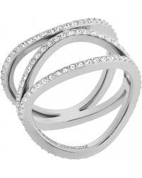 MICHAEL Michael Kors - Michael Kors Brilliance Silver Ring M - Lyst