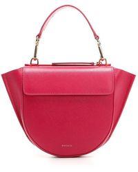 Wandler Women's Hortensiabagmini1838 Pink Leather Handbag